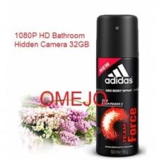 1080P Adidas Men Body Fragrance Spray Bottle Camera HD Bathroom Spy Camera 32GB